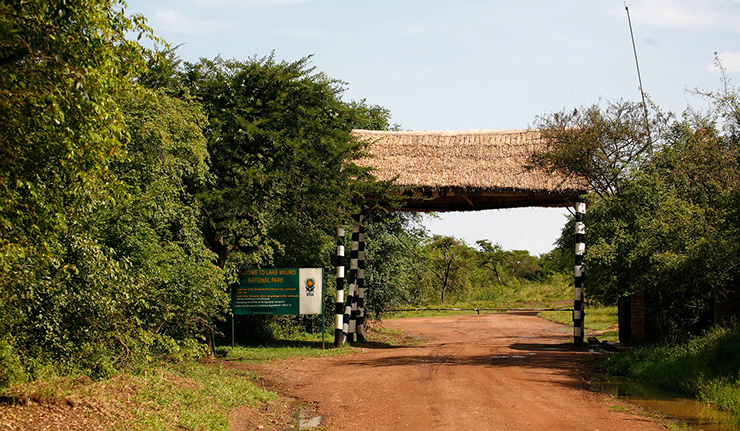 lake mburo National Park entrance